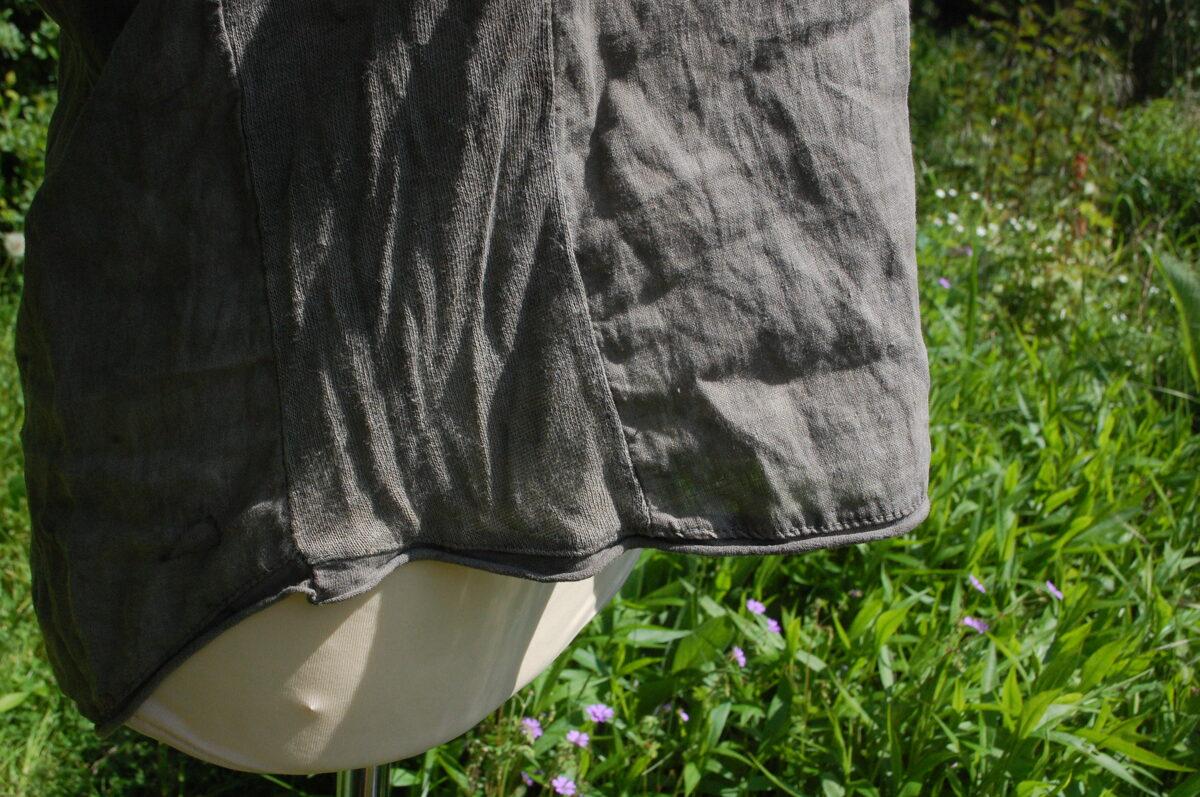 Pflanzengefärbtes Top upcycling Leinen Gr. M/L